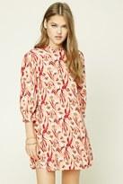Forever 21 FOREVER 21+ Ruffle Floral Print Shift Dress