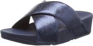 FitFlop Girl's LULU Molten Metal Slide Open Toe Sandals