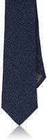 Brunello Cucinelli Men's Houndstooth Linen-Wool-Silk Necktie