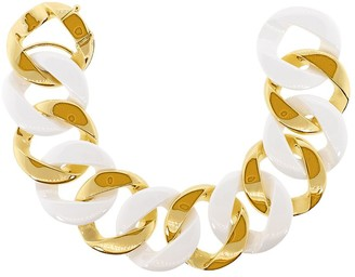 Verdura 18kt Yellow Gold Ceramic Curb-Link Bracelet