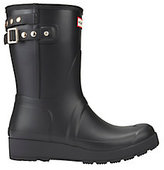Hunter Studded-Strap Short Wedge Rain Boots