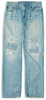 Ralph Lauren Boys' Distressed and Patched Slim Denim Jeans - Sizes 8-20