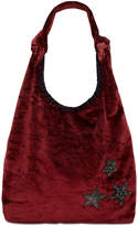 Steve Madden Crushed Velvet Phoenix Medium Hobo
