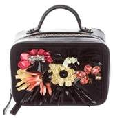 La Perla Colourful Flowers Leather Box Clutch