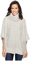 Christin Michaels Feya Fringe Turtleneck Poncho
