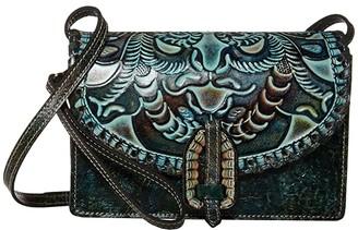 Patricia Nash Lanza Crossbody Organizer (Turquoise/Multi) Cross Body Handbags