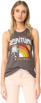 Spiritual Gangster Rainbow Sunset Rocker Tank