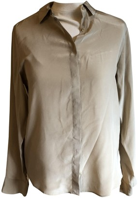 Acquaverde Ecru Silk Top for Women