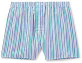 Derek Rose - Striped Cotton Boxer Shorts