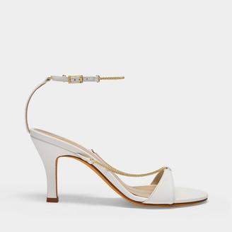 Maryam Nassir Zadeh Aurora Sandals In White Leather