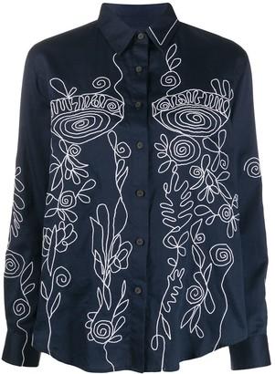 Mara Hoffman Margot embroidered blouse