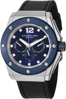 Stuhrling Original Men's 469.33156 Special Reserve Apocalypse Midnight Quartz Multi-Function Black Leather Strap Watch