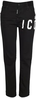 DSQUARED2 Icon Coolgirl Cotton Stretch Denim Jeans