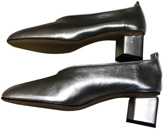 Gray Matters Silver Leather Heels
