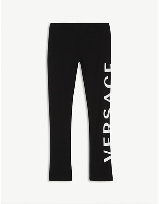 Versace Vertical logo cotton-blend leggings 4-14 years