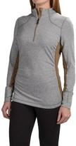 Mountain Force Raffia Shirt - Zip Neck, Long Sleeve (For Women)