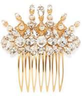 Dolce & Gabbana Gold-Tone Swarovski Crystal And Faux Pearl Hair Slide