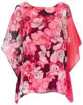 Wallis Pink Floral Overlayer Top