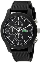Lacoste Men's 2010821 12.12 Analog Display Japanese Quartz Black Watch
