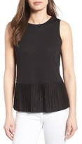 Women's Halogen Pleat Peplum Tank