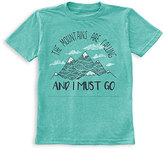Urban Smalls Turquoise 'Mountains Are Calling' Tee - Toddler & Boys