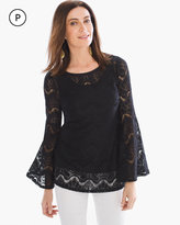 Chico's Lace Flare-Sleeve Top