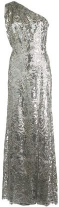 Tadashi Shoji One-Shoulder Embellished Gown