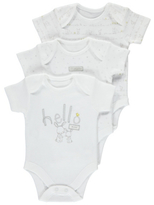 George 3 Pack Assorted Bunny Bodysuits