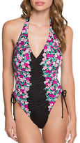 Betsey Johnson Halterneck Floral One-Piece