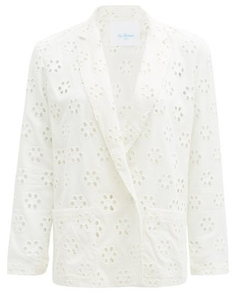 Loup Charmant St. Denis Broderie-anglaise Blazer - White