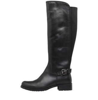 Onfire Womens Knee Length Leather Boots Black