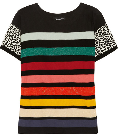Sonia Rykiel Striped cotton-blend sweater