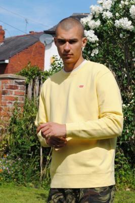 Levi's New Original Yellow Crew Neck Sweatshirt