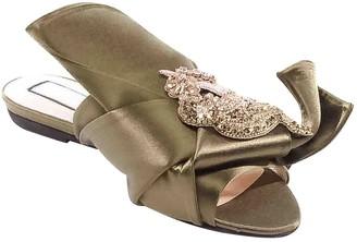 N°21 N21 Khaki Leather Sandals