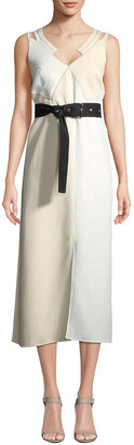 Derek Lam 10 Crosby Derek Lam Colorblocked Camisole Dress