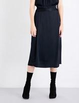 Protagonist Ladies Onyx Wrap Satin-Crepe Midi Skirt