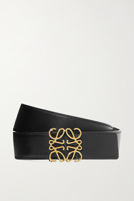 Loewe Reversible Leather Belt - Black