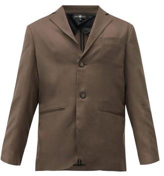 Edward Crutchley Single-breasted Wool Jacket - Brown
