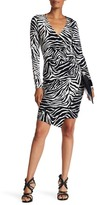 Hale Bob Long Sleeve Wrap Dress