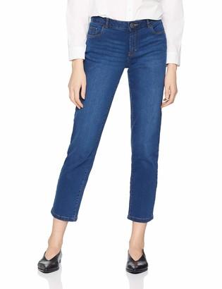 Dorothy Perkins Women's AA16.00 Washed Indigo Ashley Straight - Short Jeans