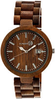 Earth Wood Stomates Olive Bracelet Watch with Date ETHEW2204