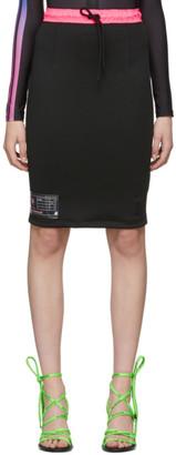 Marcelo Burlon County of Milan Black Label Longuette Miniskirt