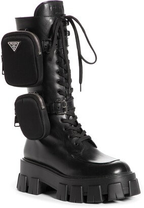 Prada Removable Pouch Combat Boot
