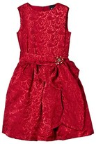 Love made Love Red Jacquard Dress with Diamante Flower Bow Belt
