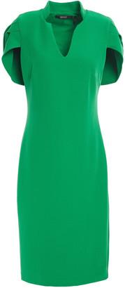 Badgley Mischka Cape-effect Stretch-cady Dress
