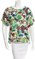 See by Chloe Short Sleeve Floral Print Top