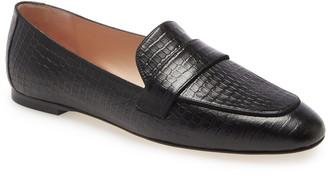 Stuart Weitzman Payson Croc Embossed Loafer