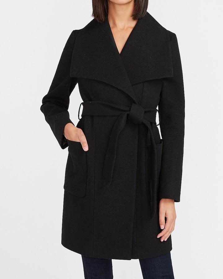 Express Wrap Wool-Blend Coat