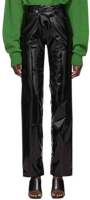 Ottolinger Black Pleather Diagonal Trousers