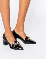 Asos SMOKIE Embellished Heeled Loafers